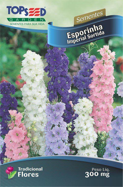 Sementes de Esporinha Imperial Sortida - Topseed Linha Tradicional Flores