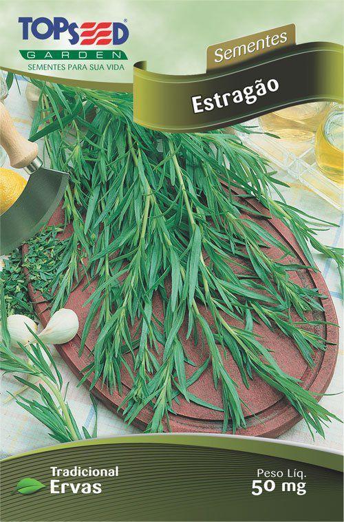 Sementes de Estragão - Topseed Linha Tradicional Ervas 50mg