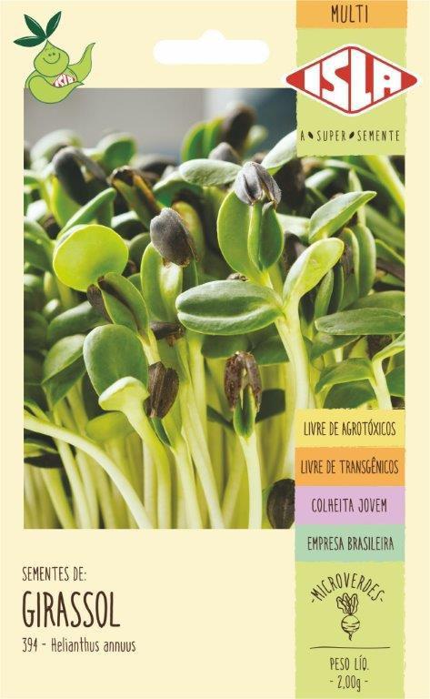 Sementes de Girassol Anão de Jardim Microverdes 2g - Isla Multi