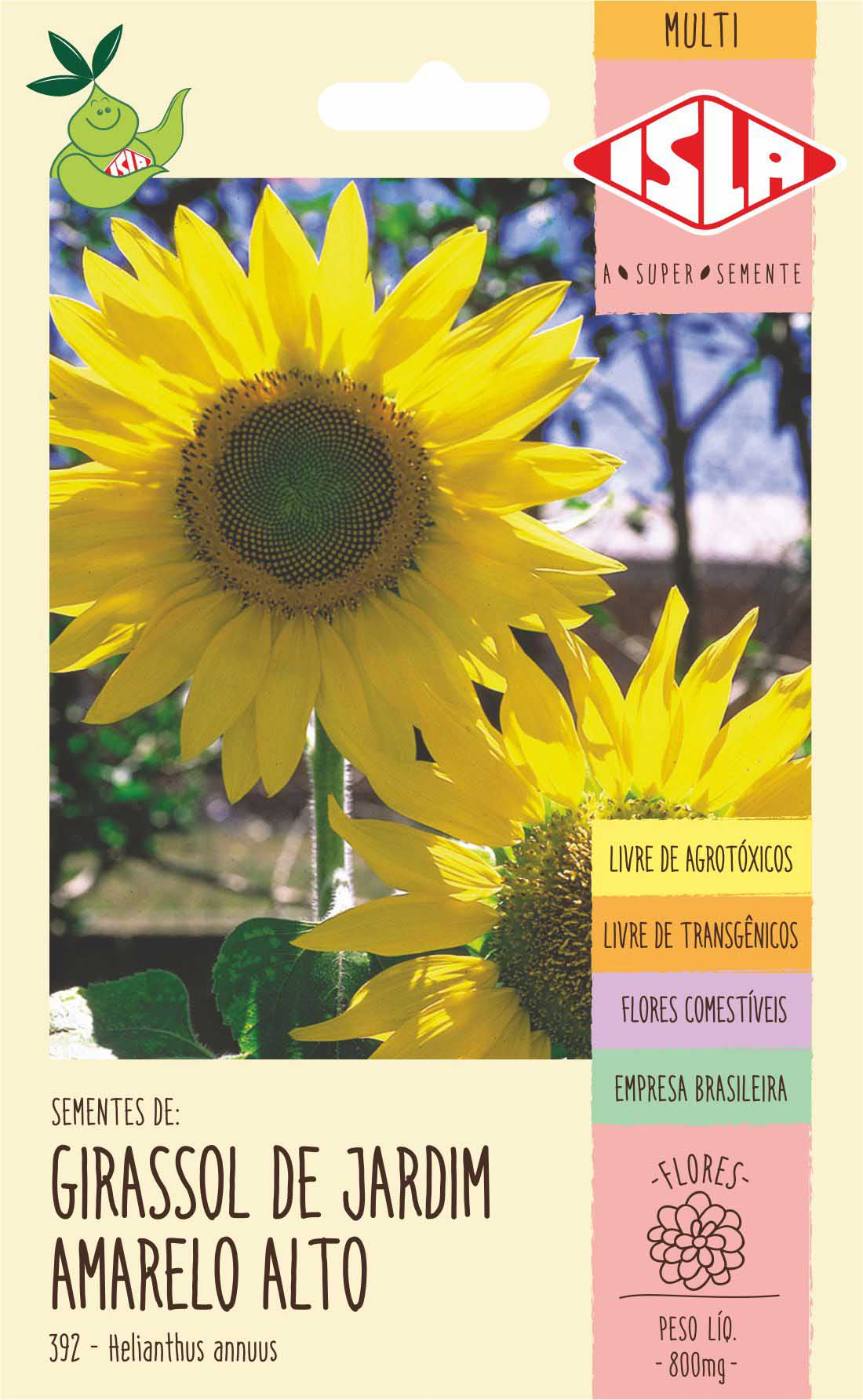 Sementes de Girassol de Jardim Amarelo Alto - Isla Multi
