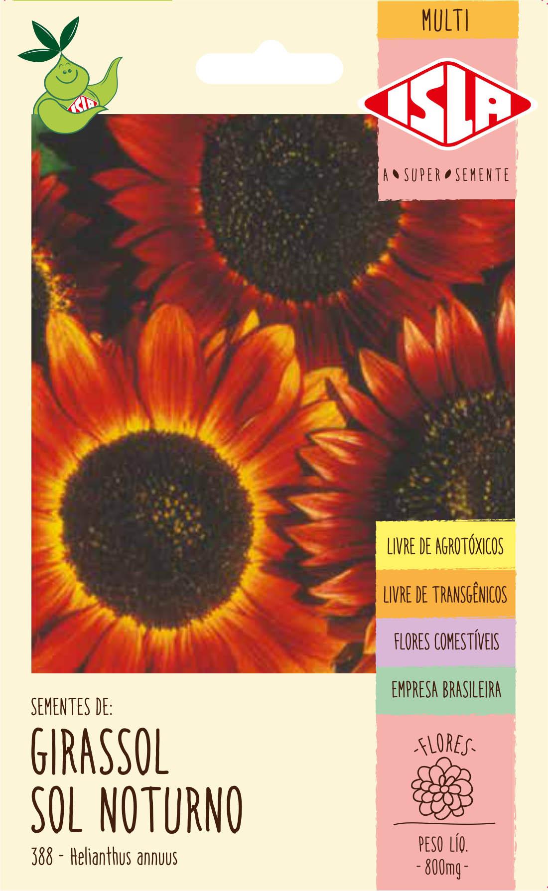 Sementes de Girassol Sol Noturno 800mg - Isla Multi