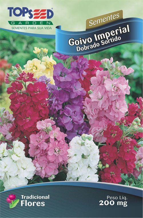 Sementes de Goivo Imperial Dobrado Sortido 200mg - Topseed Linha Tradicional Flores
