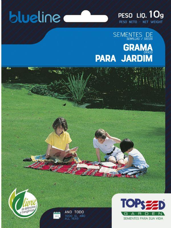 Sementes de Grama para Jardim Folha Fina 10g - Topseed Blue Line