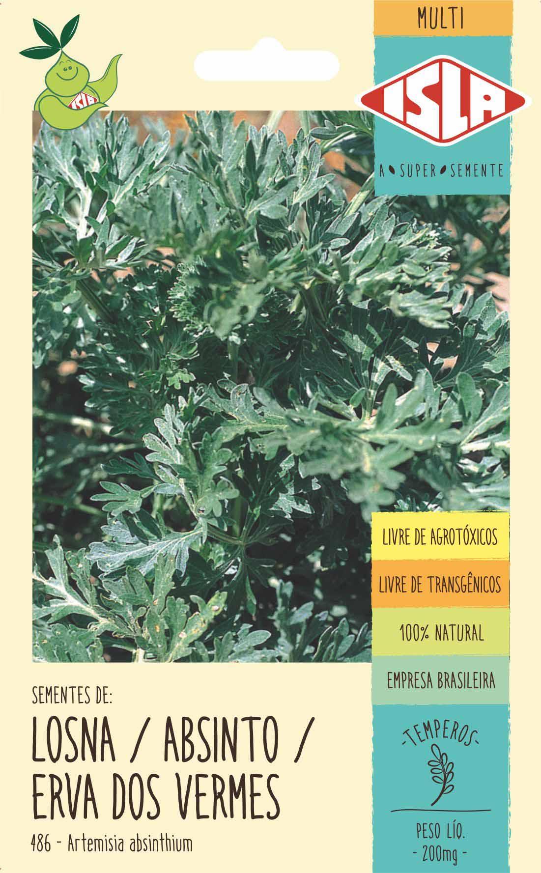 Sementes de Losna / Absinto / Erva dos Vermes Artemisia 100mg - Isla Multi