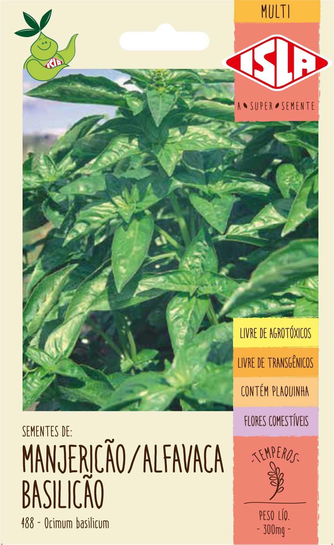 Sementes de Manjericão Alfavaca Basilicão 300mg - Isla Multi