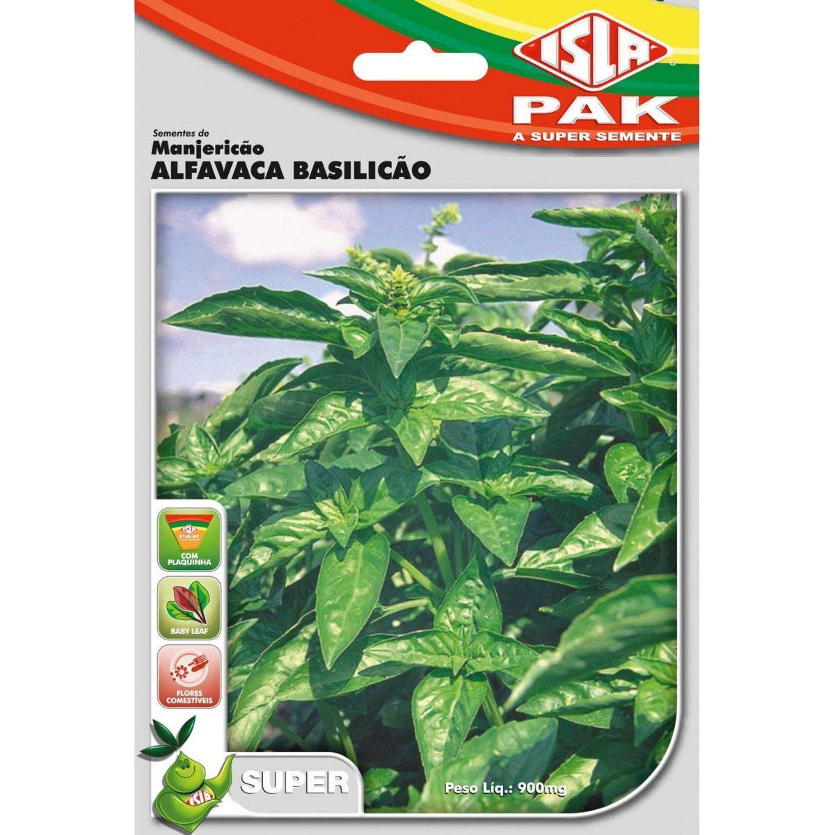 Sementes de Manjericão Alfavaca Basilicão - Isla Superpak