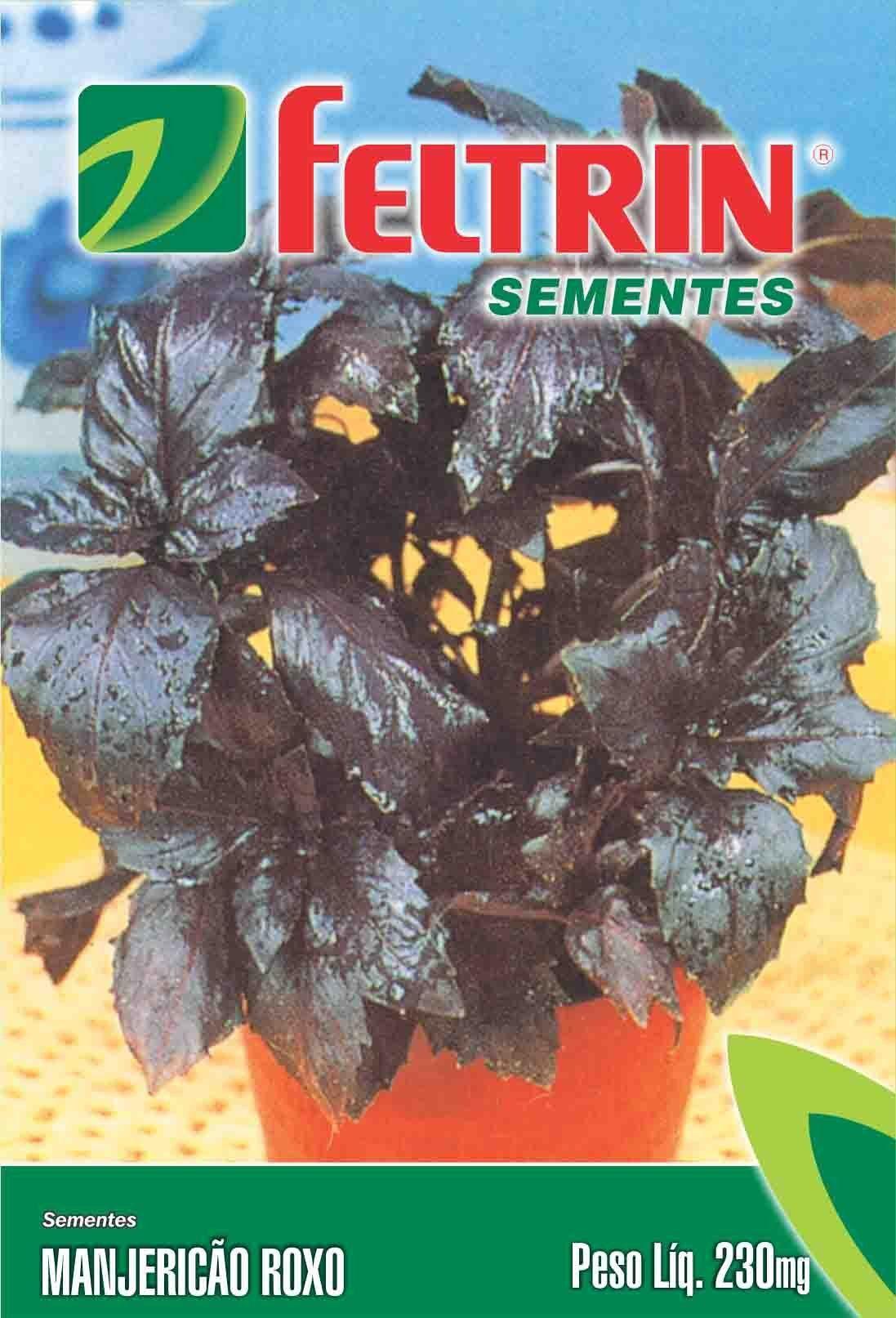 Sementes de Manjericão Roxo 100mg - Feltrin Linha Condimentos e Ervas Medicinais
