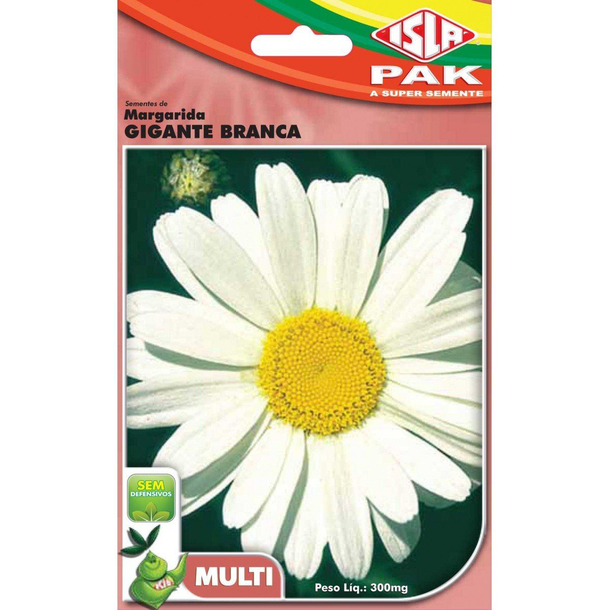 Sementes de Margarida Gigante Branca - Isla Multi