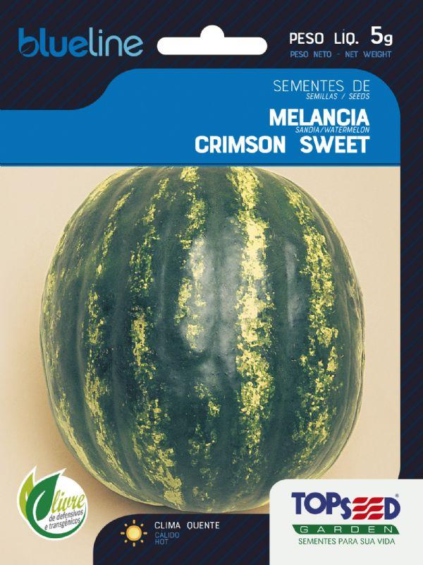 Sementes de Melancia Crimson Sweet 5g - Topseed Blue Line
