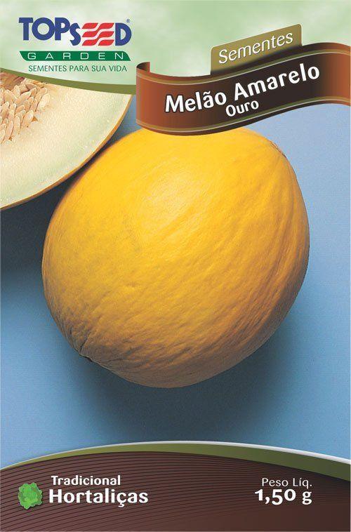Sementes de Melão Amarelo Ouro 1,50g - Topseed Linha Tradicional Hortaliças