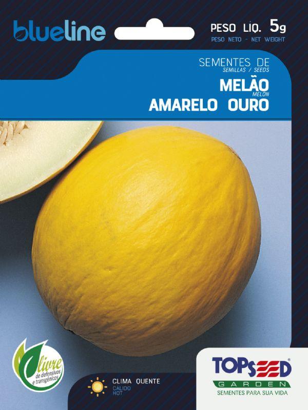 Sementes de Melão Amarelo Ouro 5g - Topseed Blue Line