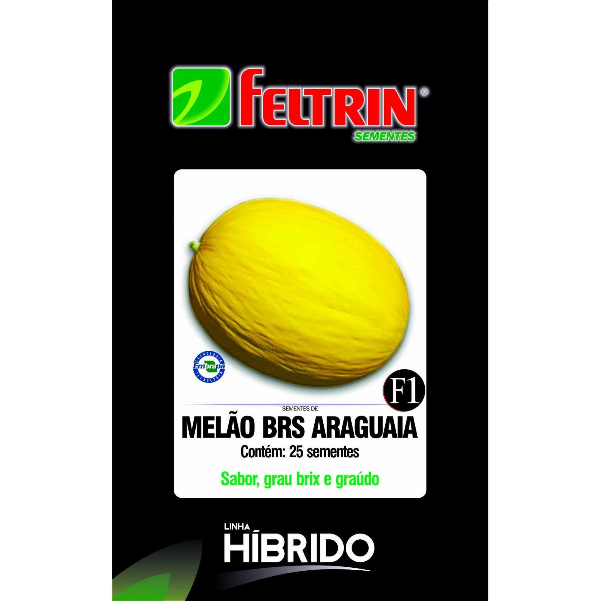 Sementes de Melão BRS Araguaia com 25 sementes - Feltrin Linha Híbrido
