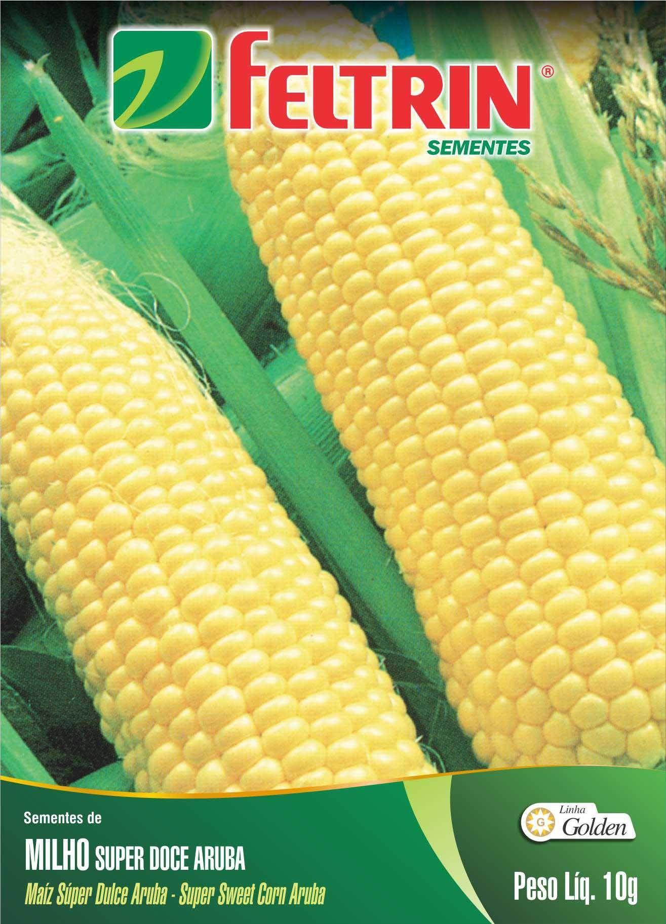 Sementes de Milho Super Doce Aruba 10g - Feltrin Linha Golden