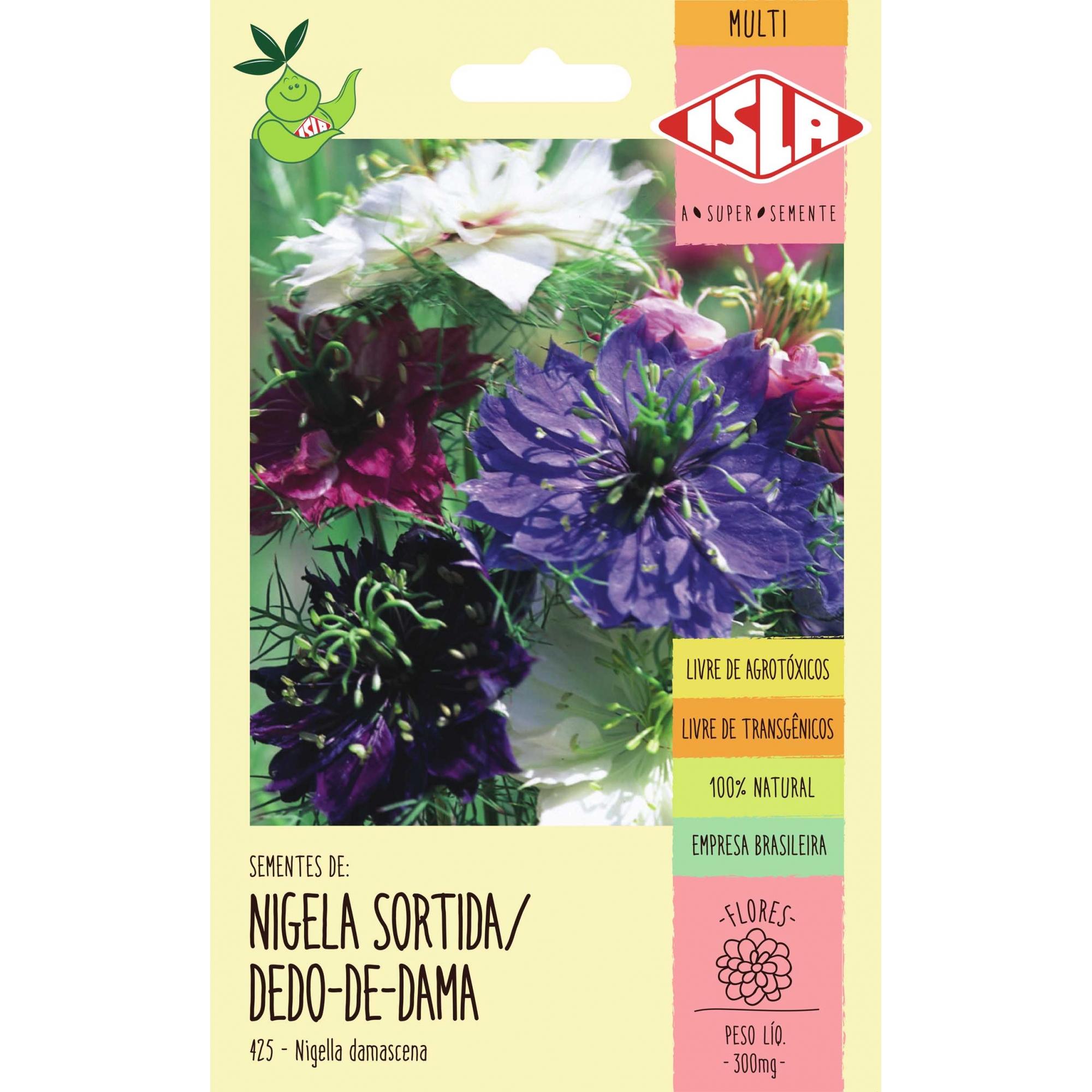 Sementes de Nigela Sortida/Dedo-de-Dama (Cabello de Venus Variado) - Isla