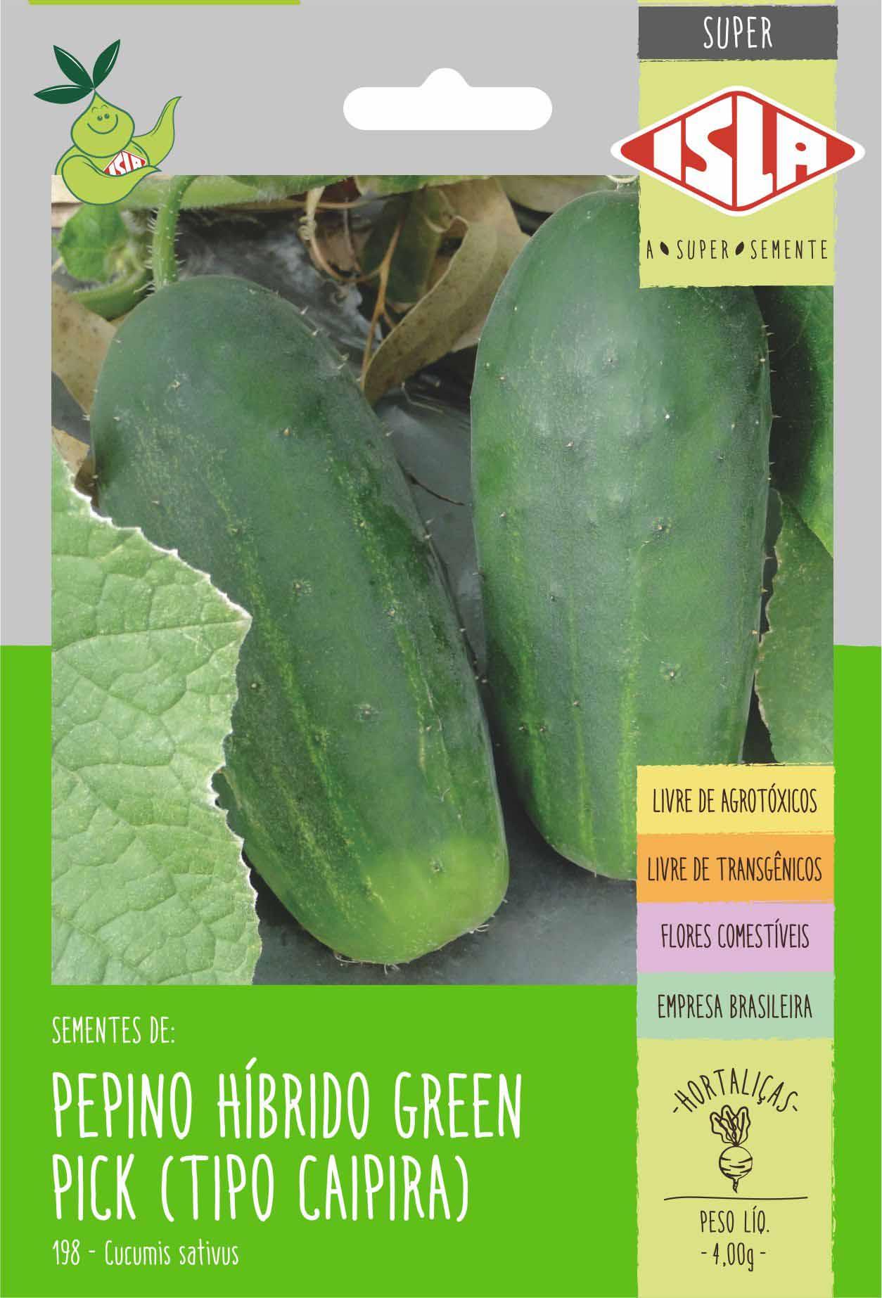 Sementes de Pepino Híbrido Green Pick (tipo caipira) - Isla Superpak