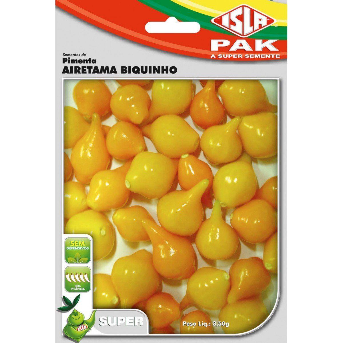 Sementes de Pimenta Airetama Biquinho Amarela - Isla Superpak