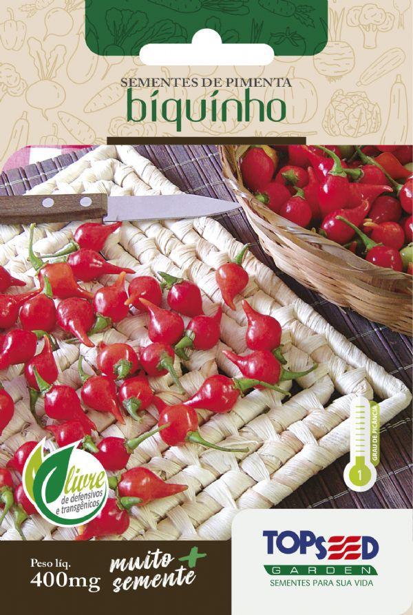 Sementes de Pimenta Biquinho 400mg - Topseed Linha Tradicional