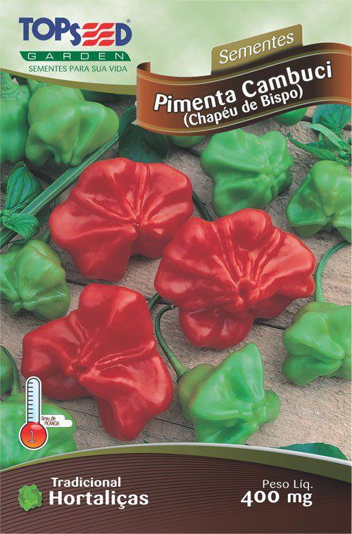 Sementes de Pimenta Cambuci (Chapéu de Bispo) - Topseed