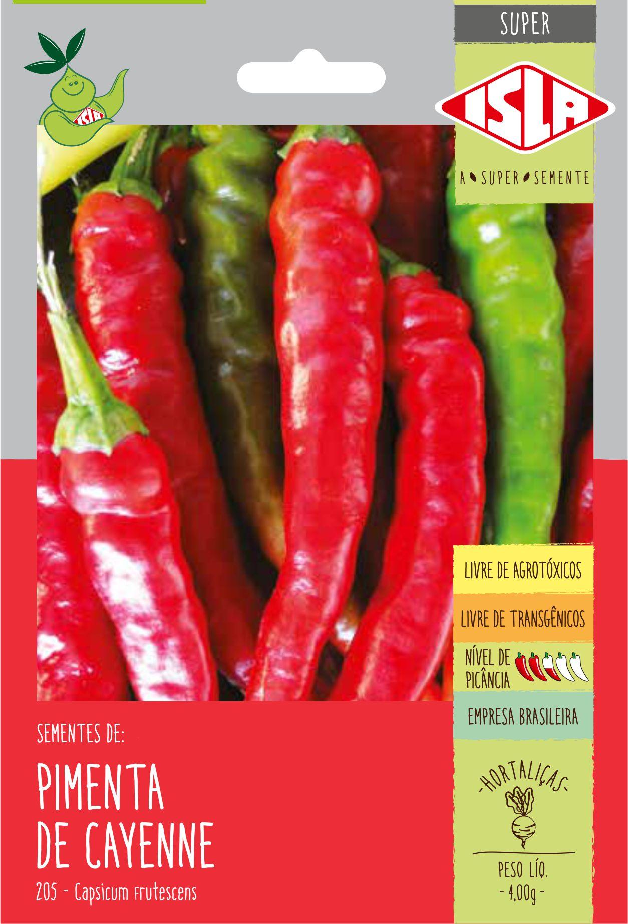 Sementes de Pimenta Cayenne - Isla Superpak