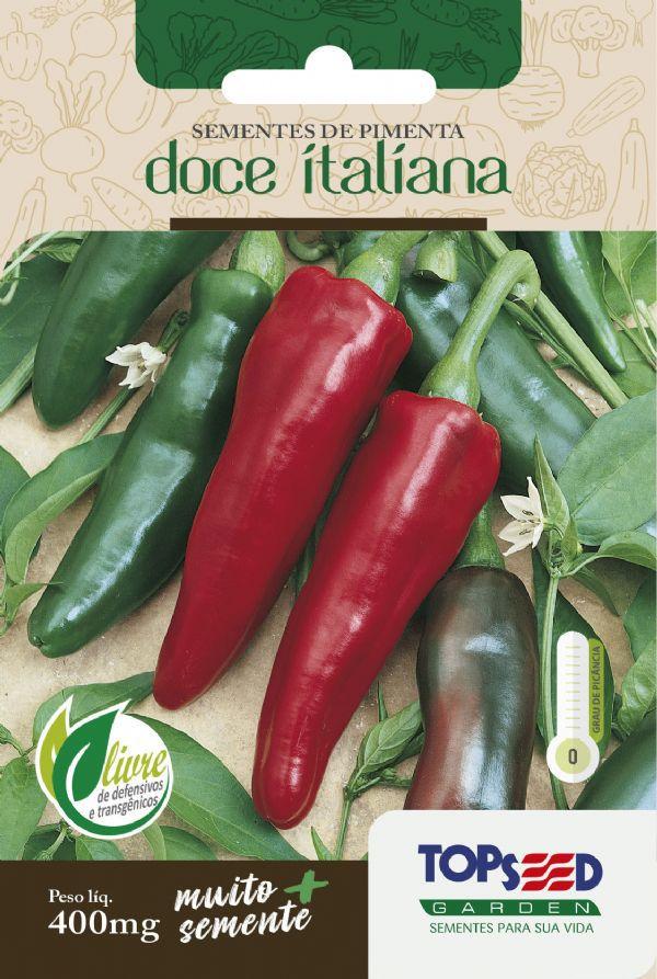 Sementes de Pimenta Doce Italiana 400mg - Topseed Linha Tradicional