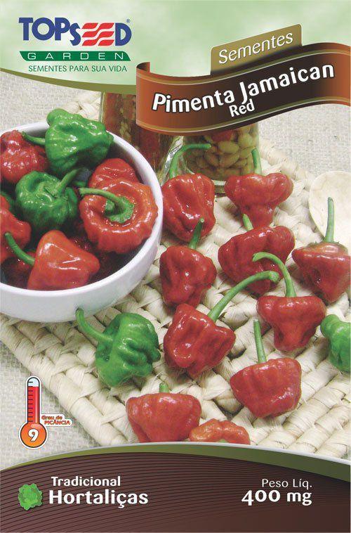 Sementes de Pimenta Jamaican Red 400mg - Topseed Linha Tradicional