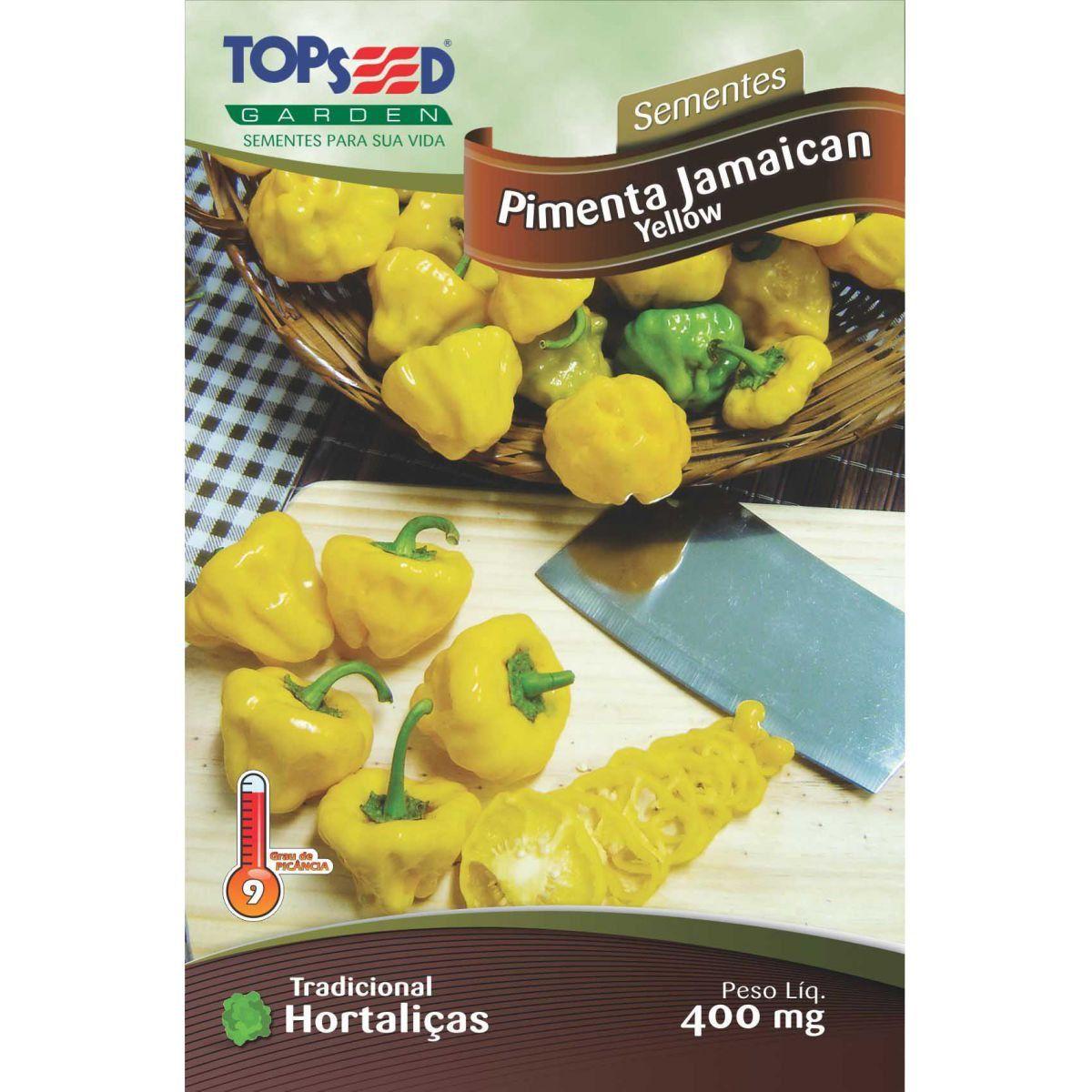Sementes de Pimenta Jamaican Yellow - Topseed Linha Tradicional