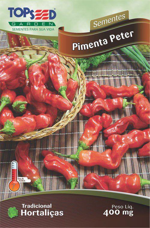 Sementes de Pimenta Peter Topseed Linha Tradicional Hortaliças 0,40g