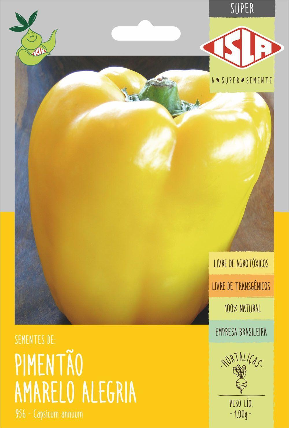 Sementes de Pimentão Amarelo Alegria 1g - Isla Superpak