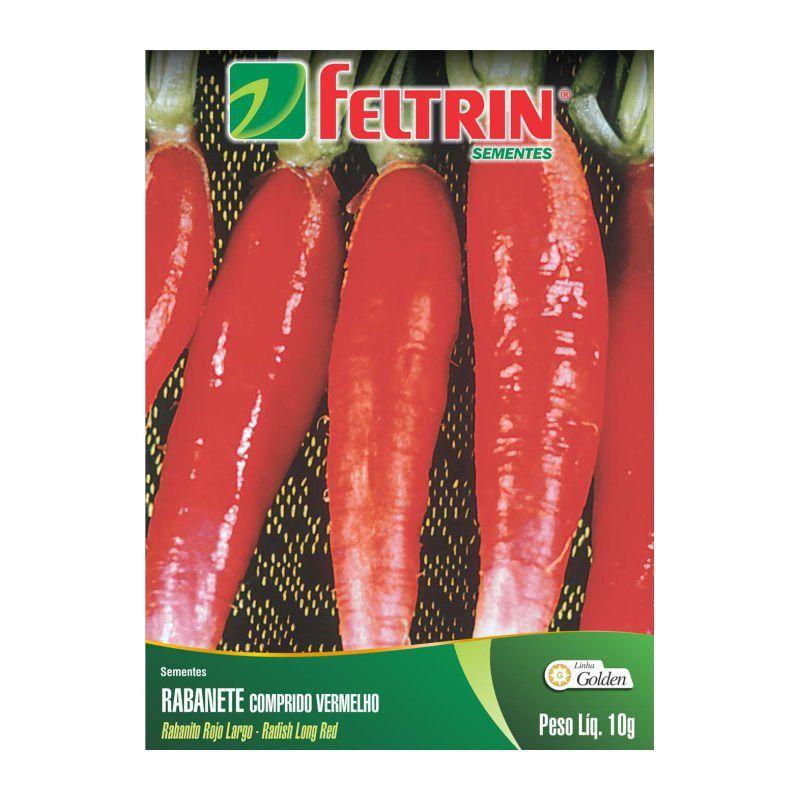 Sementes de Rabanete Comprido Vermelho 10g - Feltrin Linha Golden