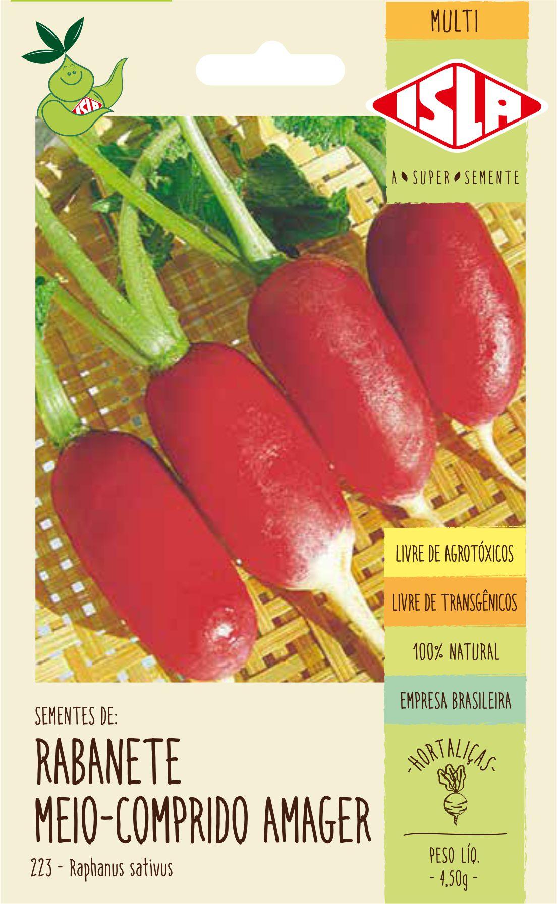 Sementes de Rabanete Meio Comprido Amager 4,50g - Isla Multi