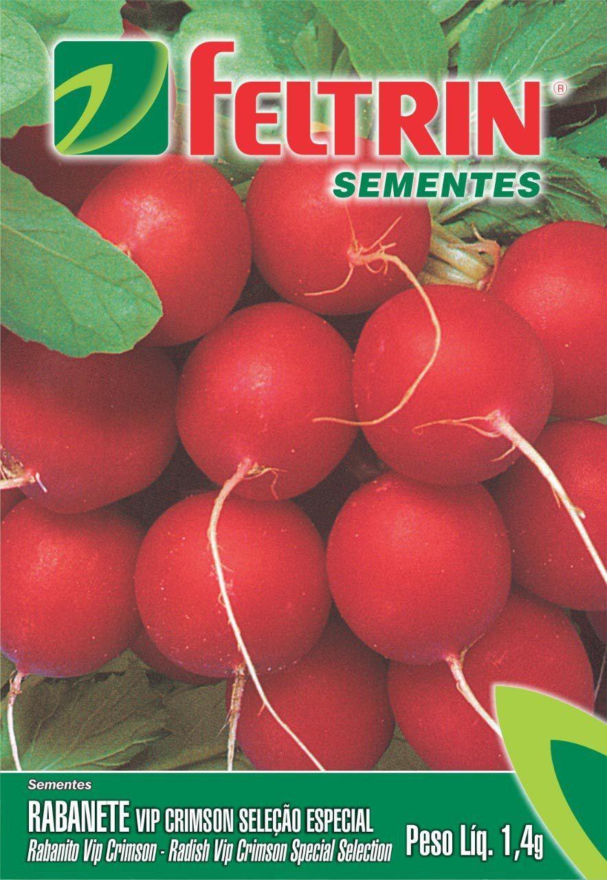 Sementes de Rabanete Vip Crimson Seleção Especial 1,4g - Feltrin Linha Econômica
