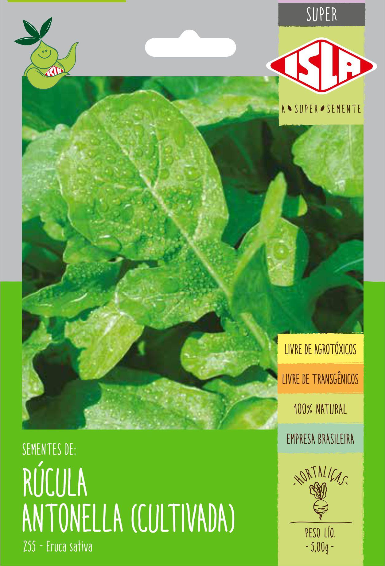 Sementes de Rúcula Antonella (Cultivada) - Isla Superpak