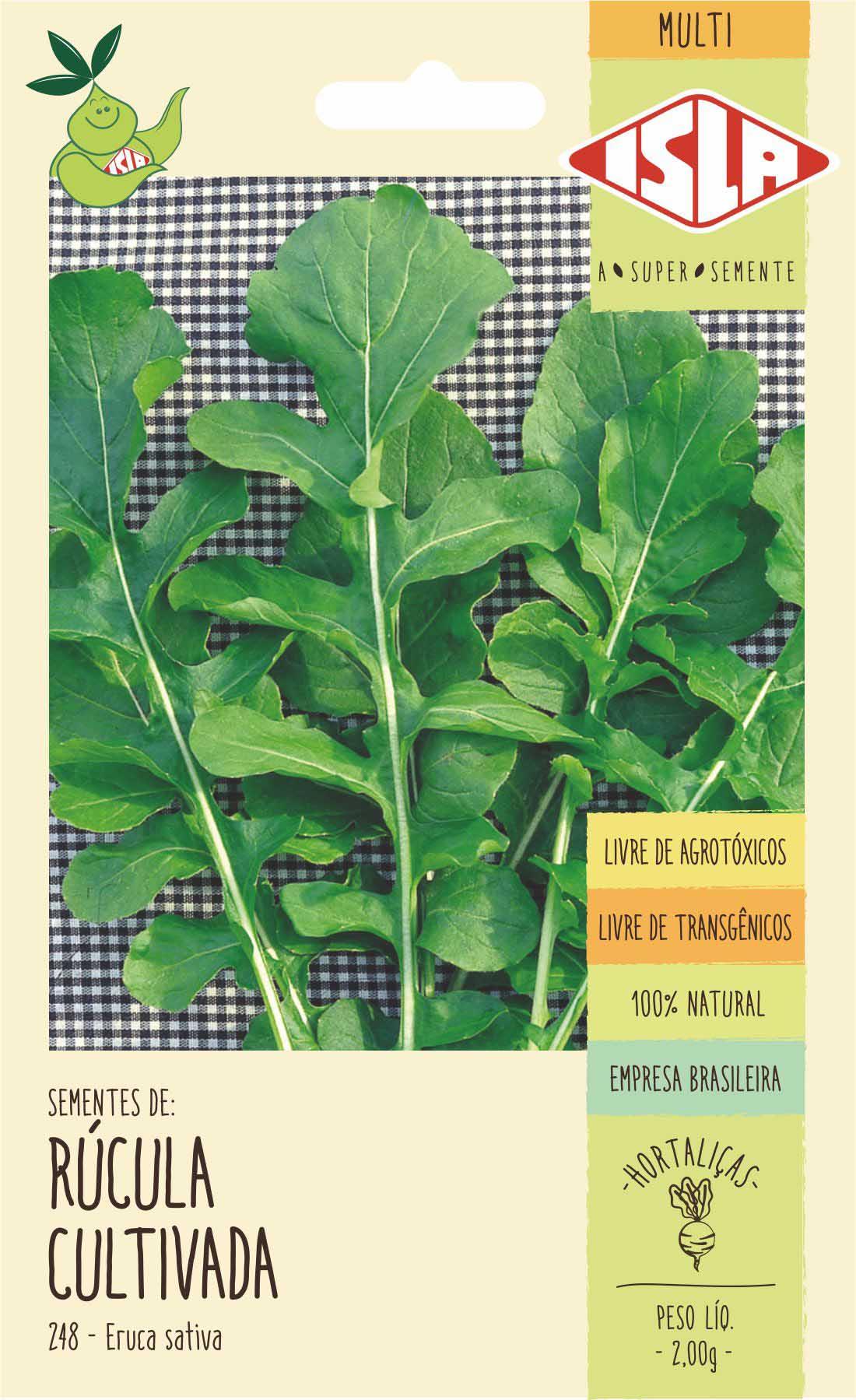 Sementes de Rúcula Cultivada Gigante Folha Larga 2g - Isla Multi