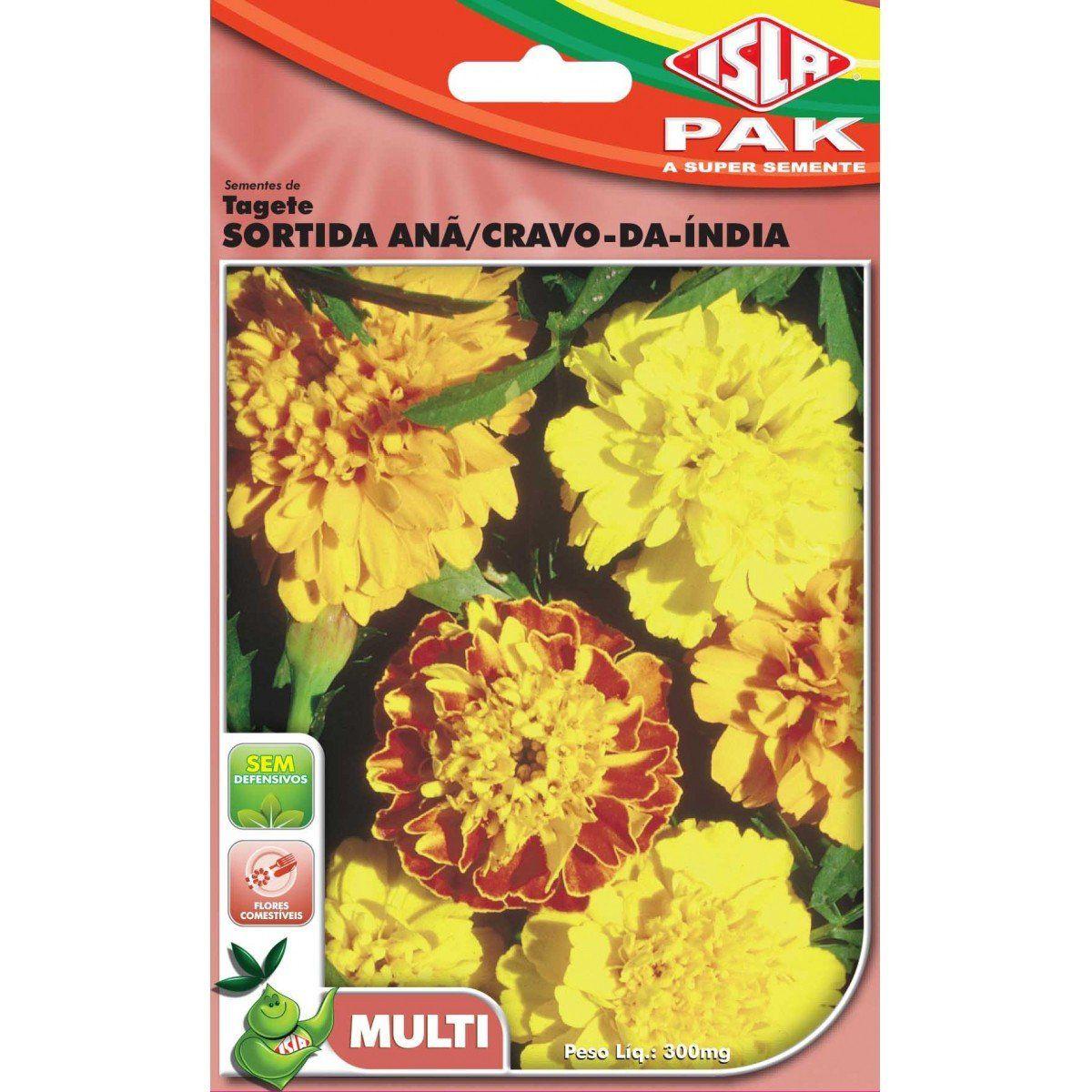 Sementes de Tagete Sortida Anã/Cravo-da-Índia - Isla Multi