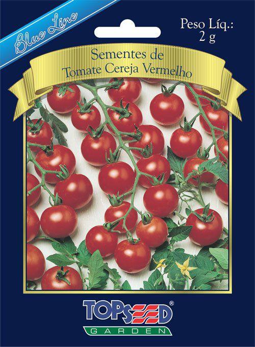 Sementes de Tomate Cereja Vermelho - Topseed Blue Line