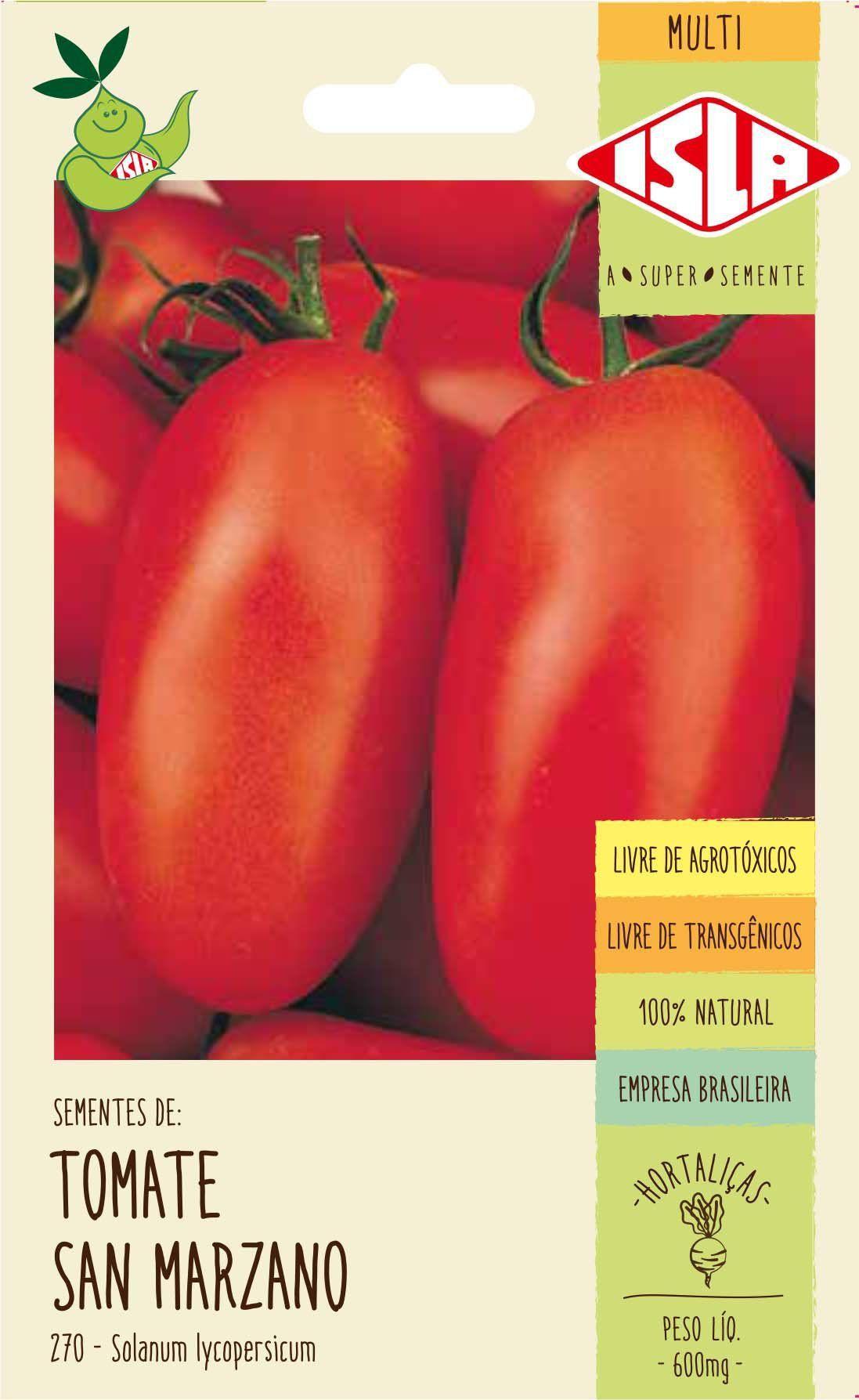Sementes de Tomate San Marzano 600mg - Isla Multi