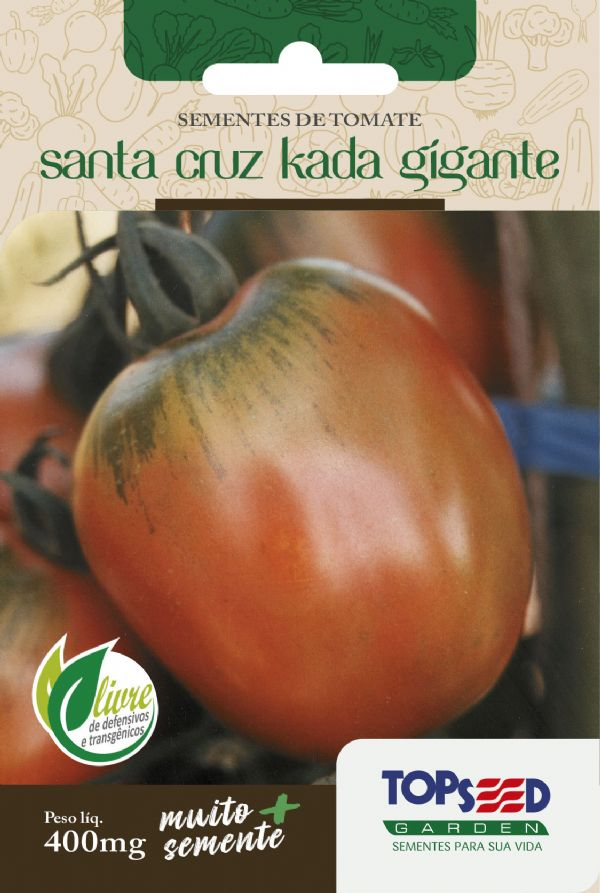 Sementes de Tomate Santa Cruz Kada Gigante 400mg - Topseed Linha Tradicional
