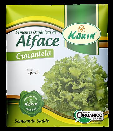 Sementes Orgânicas de Alface Crocantela 0,05g - Korin