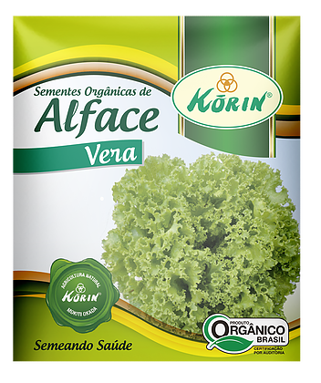 Sementes Orgânicas de Alface Vera 0,5g - Korin