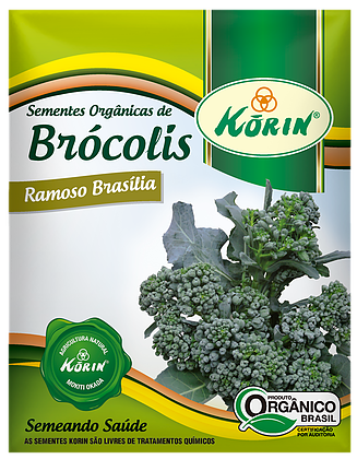 Sementes Orgânicas de Brócolis Ramoso Brasília 0,08g - Korin