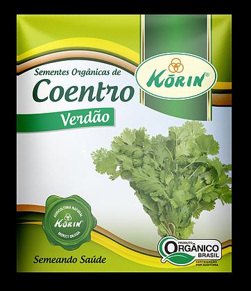 Sementes Orgânicas de Coentro Verdão 0,5g - Korin