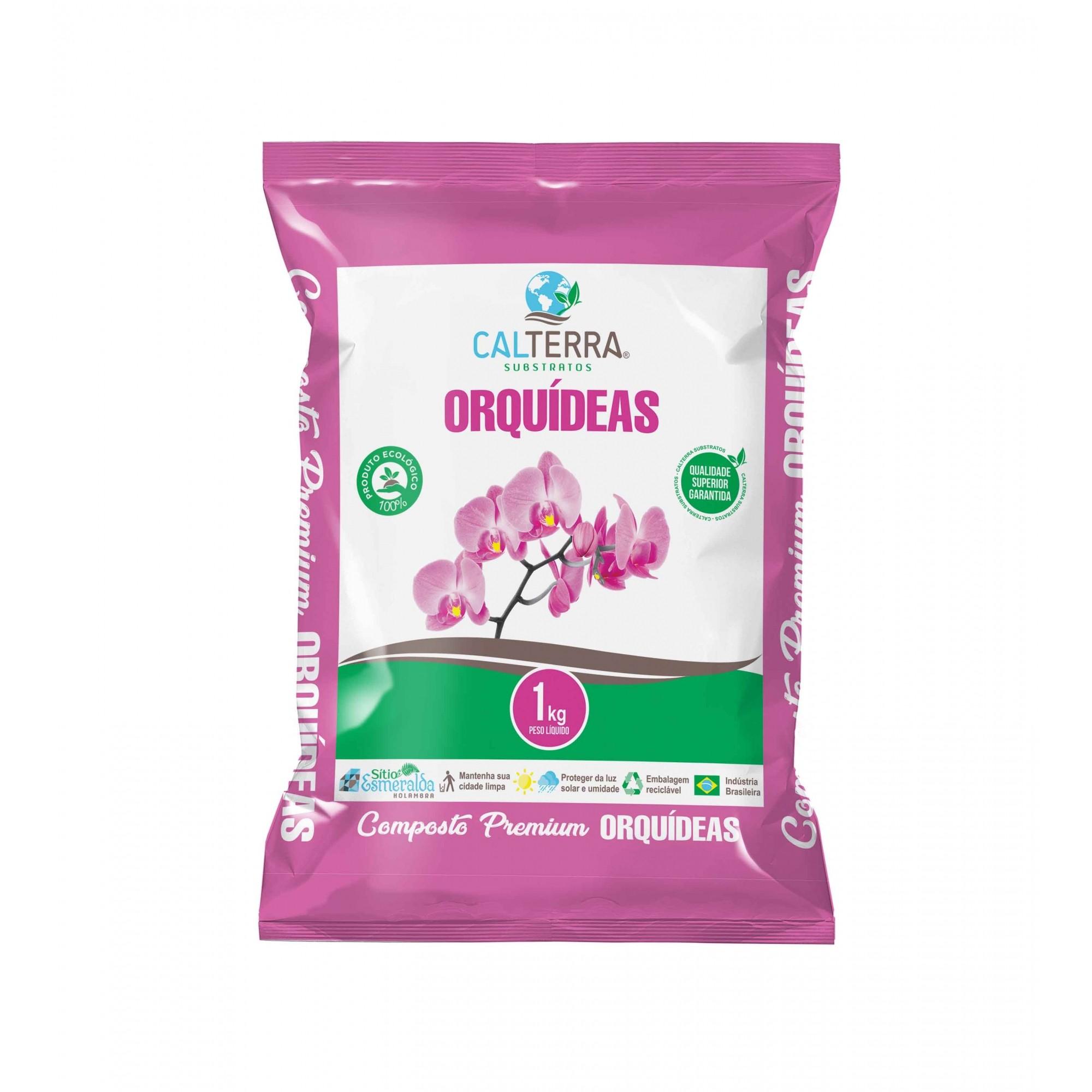 Substrato Composto Premium Orquídeas 1kg Calterra