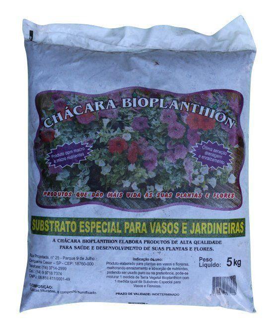 Substrato Especial para Vasos e Jardineiras 5 kg Bioplanthion