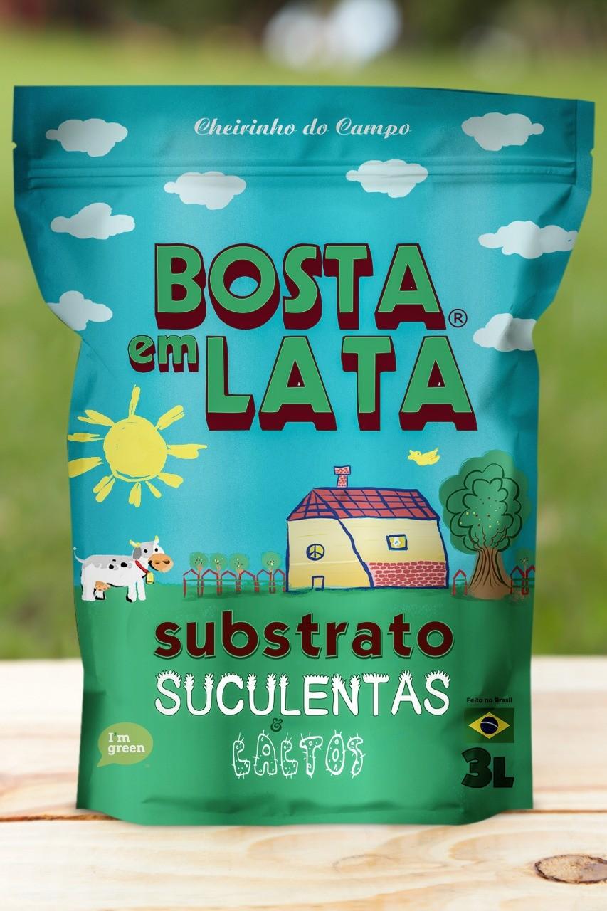 Substrato Orgânico Bosta em Lata para Suculentas e Cactos 3 litros