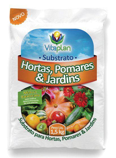 Substrato para hortas, pomares e jardins 1,5kg - Vitaplan