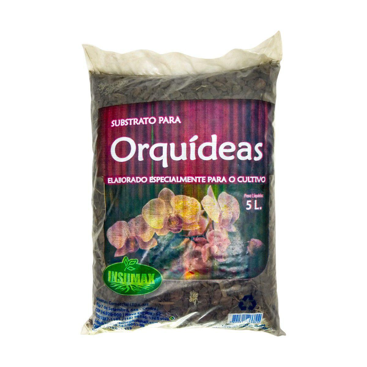 Substrato para Orquídeas 5 litros Especial para Cultivo
