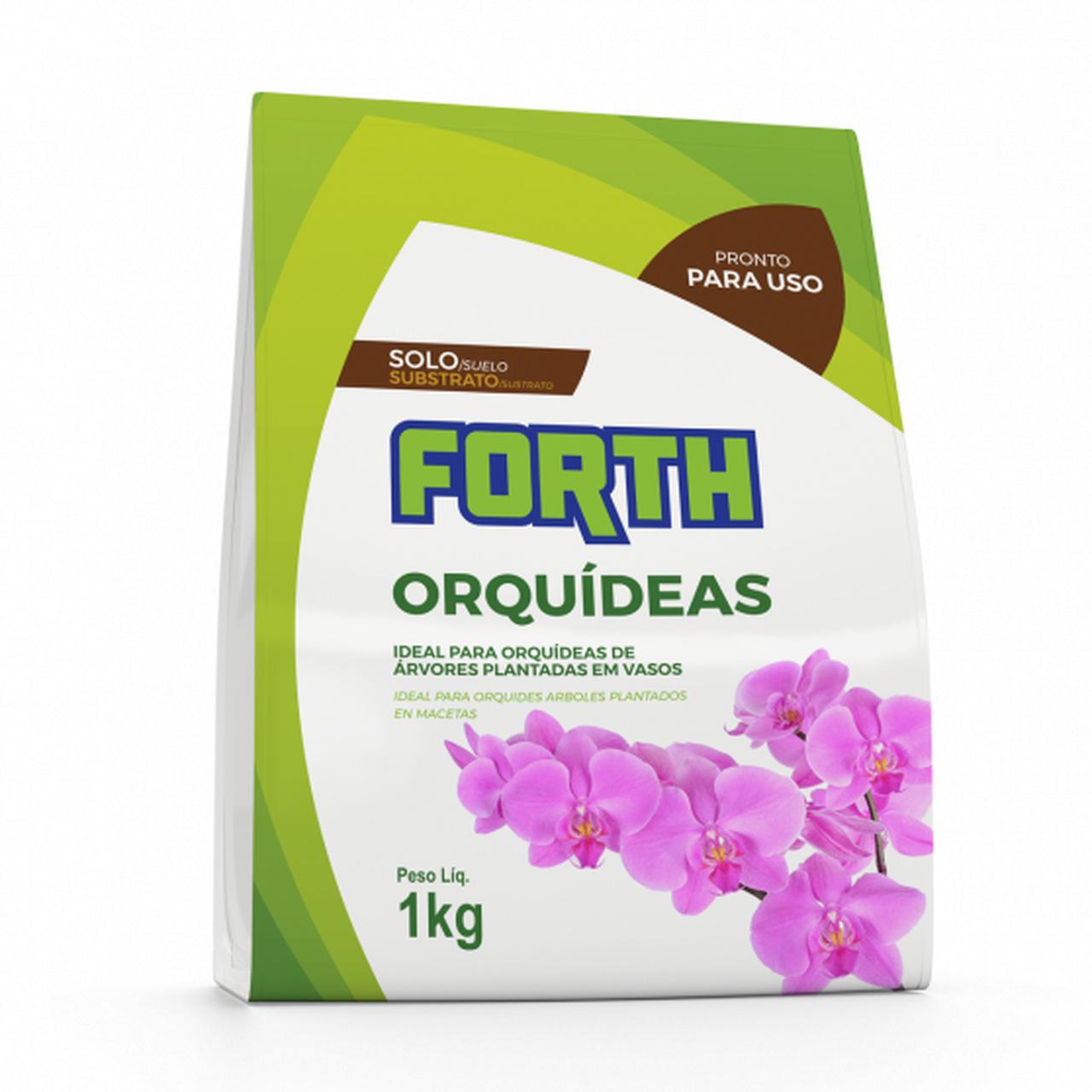 Substrato para Orquídeas Forth 1kg - Fibra de coco, casca de pinus e carvão vegetal