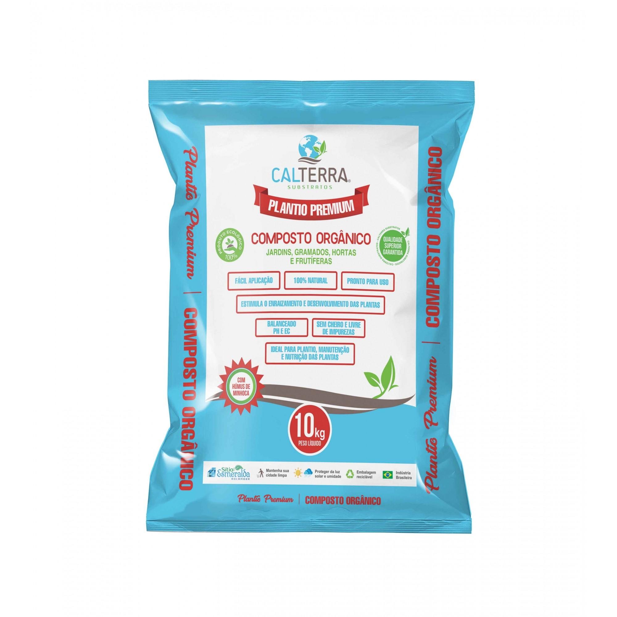 Substrato Plantio Premium Composto Orgânico 10kg Calterra