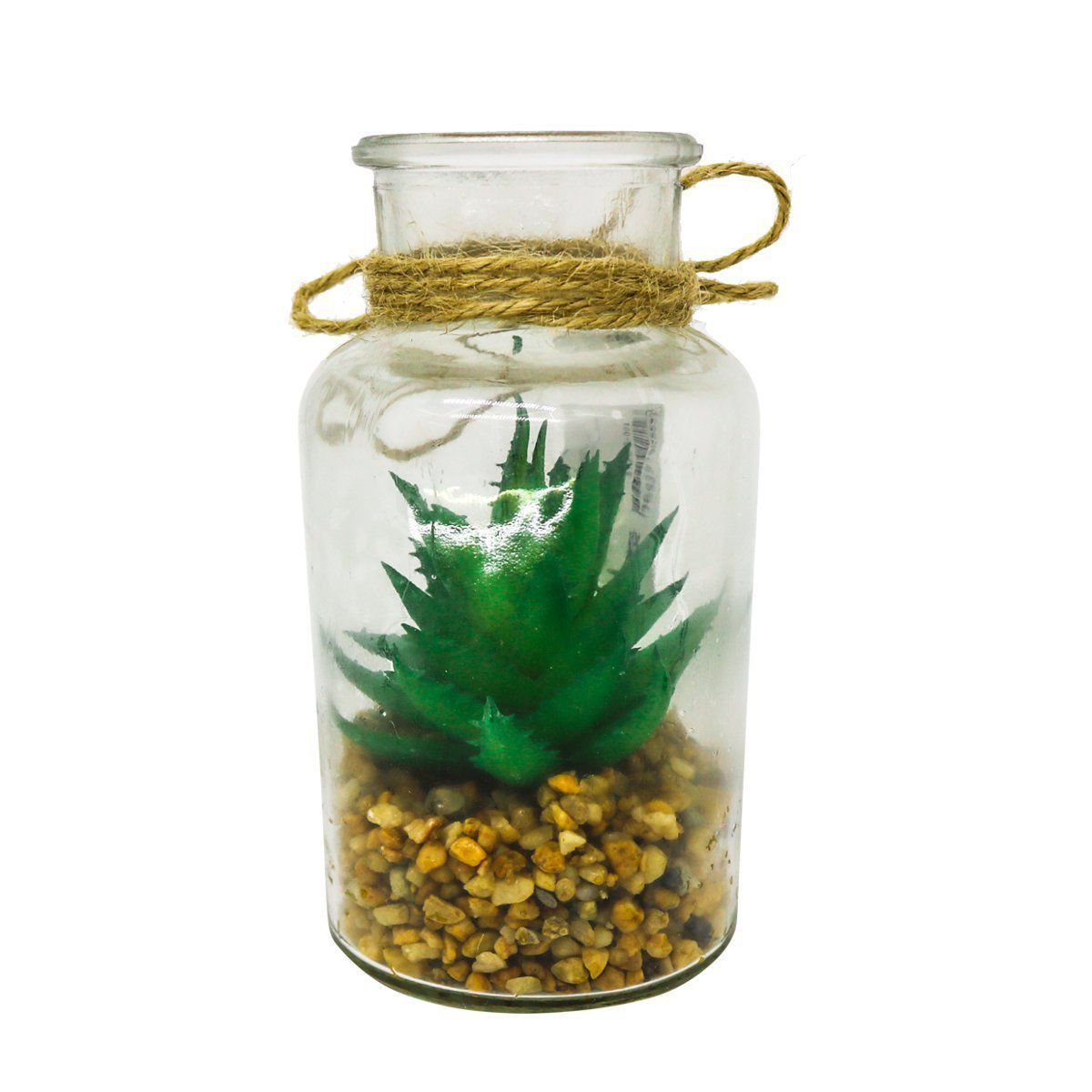 Suculenta Artificial Verde com Vaso 12cm - 37200001