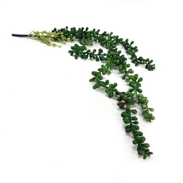 Suculenta Colar de Pérolas Artificial Verde 73cm